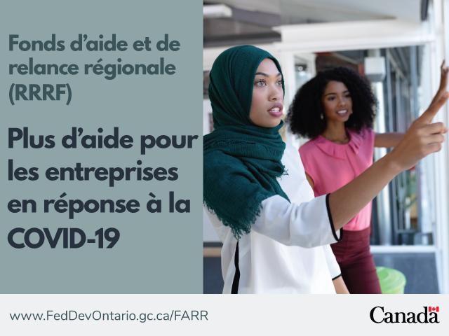 Prolongement et expansion du Fonds d'aide et de relance régionale (FARR) dans le Sud de l'Ontario
